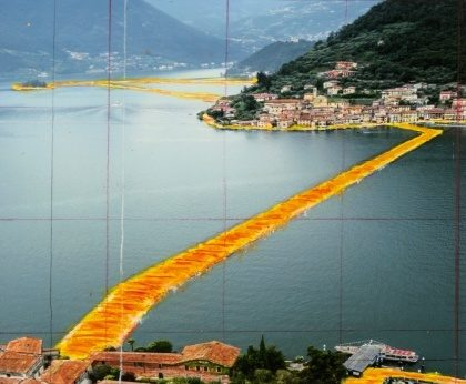 The floating piers Franciacorta opera Christo